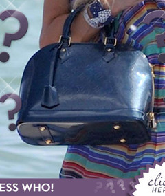 Whose Blue Louis Vuitton Beach Bag?