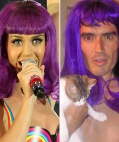Katy vs. Russell -- It's a Wig Off!