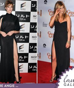 Angelina vs. Jen: Battle of the Leggy Dresses