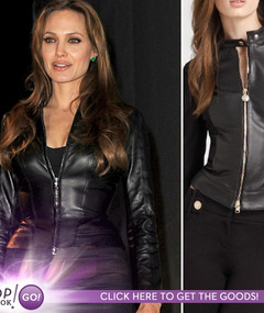 Angelina&#039;s Comic-Con Jacket -- Steal Her Style