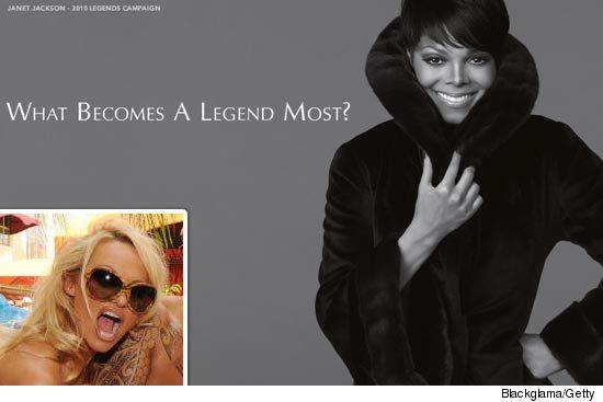 Janet Jackson Fur - Blackgama