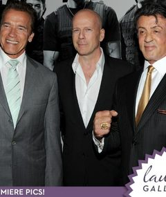 Arnold, Bruce & Sly at 'Expendables' Premiere!