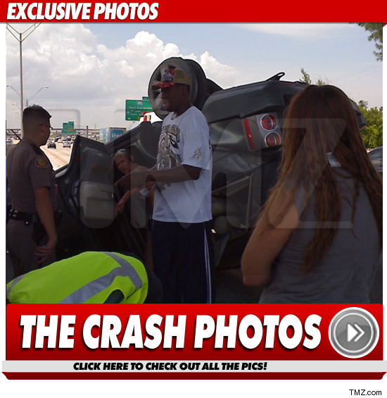 Dennis Rodman Car Accident Photos