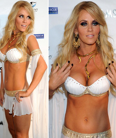 Jenny McCarthy's Vegas Costume -- Just 'Cuz