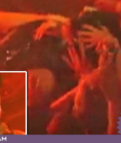 Adam Lambert Makes Out with Fans at Show!