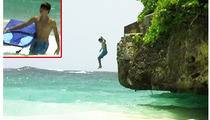 Justin Bieber Throws Himself Off a Cliff