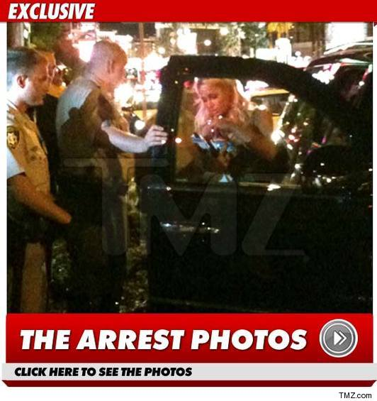 Paris Hilton Arrest Photos