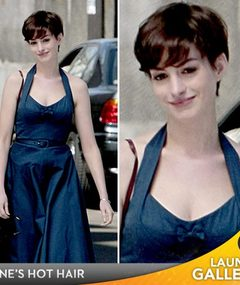 Hathaway Debuts Short, New 'Do