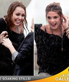 Miley & Ashley Get Wet & Wild