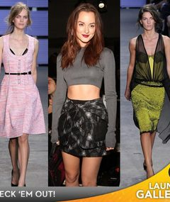 Meester Bares Midriff at Fashion Week