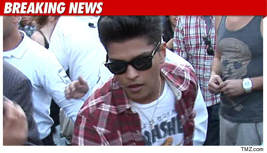 Popular singer/songwriter Bruno Mars was arrested in Las Vegas early Sunday