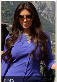 "Kim K. Says ""Ciao"" to Capri"