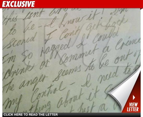 Mel Gibson Letter