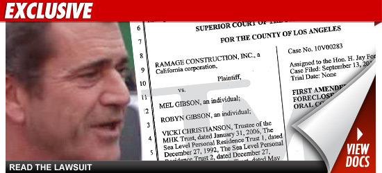 Mel Gibson Foreclosure
