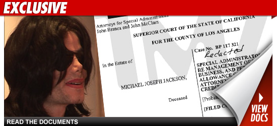 Los ejecutores de los bienes de Michael Jackson presentan informe legal ante la Corte == The executors of Michael Jackson presented to the court legal brief
