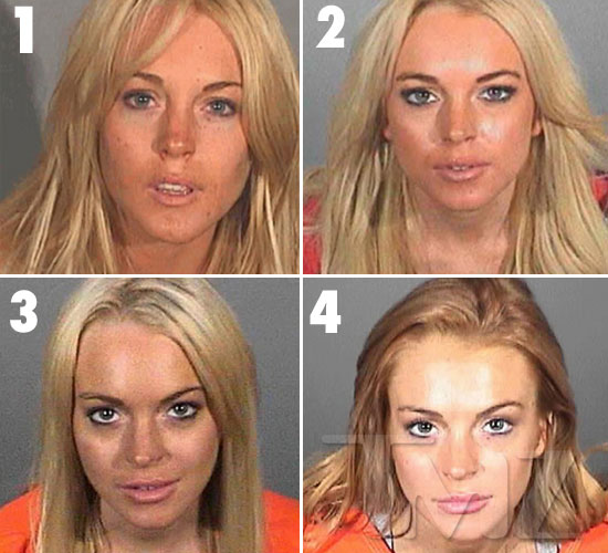 lindsay lohan 2011 mugshot. Lindsay Lohan was in and out