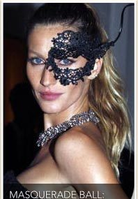 Gisele, Tyra, Dita: Masked Beauties!