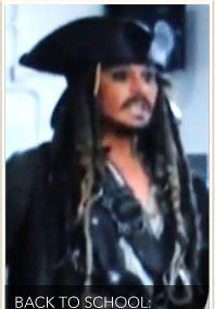 Depp Visits School ... in Costume!