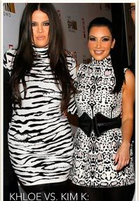 Kim & Khloe: Black & White Faceoff