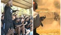LeBron & Dwyane -- Bullets Fly at Training Camp