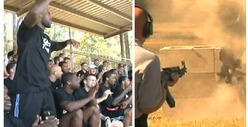 LeBron & Dwyane -- Bullets Fly at Training Camp