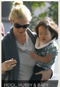 Katherine Heigl Kicks It With Her Family
