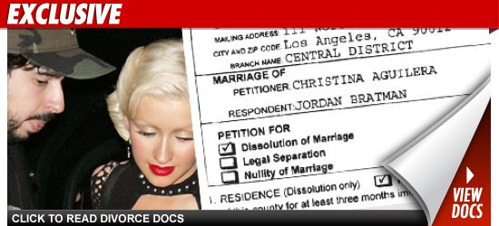 Christina Aguilera divorce.