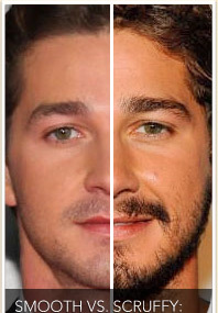Smooth vs. Scruffy: Star Facial Hair