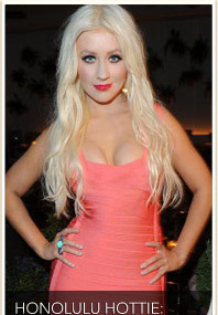 Christina Aguilera Jets to Hawaii