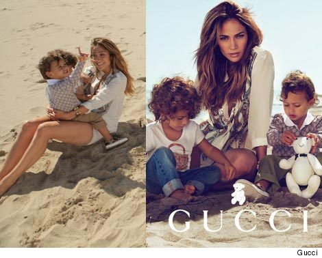 jennifer lopez kids gucci ad. J.Lo#39;s Kids Model for Gucci!