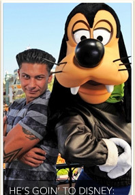 Pauly D Fist Pumps with Goofy!