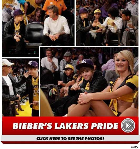 Justin Bieber Laker Girls