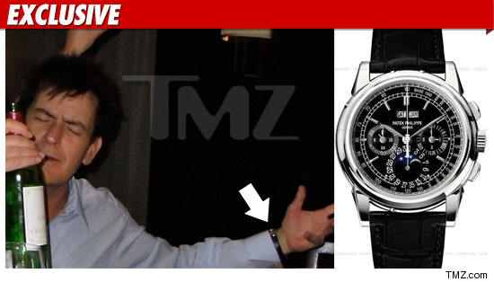 Charlie Sheen watch collection.