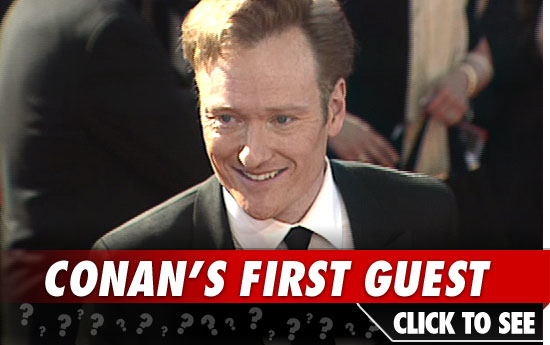Conan O'Brien first guest: