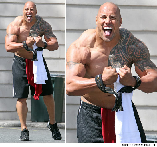 Dwayne Johnson's Workout to Pack Extra Muscle to Play Ex