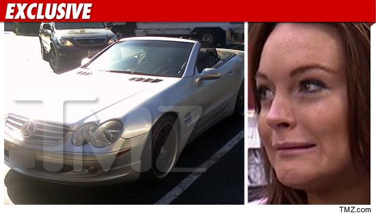 Lindsay Lohan's Mercedes
