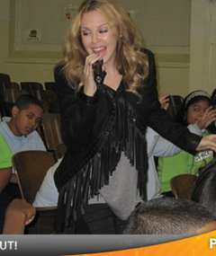 Kylie Performs with NY Public School