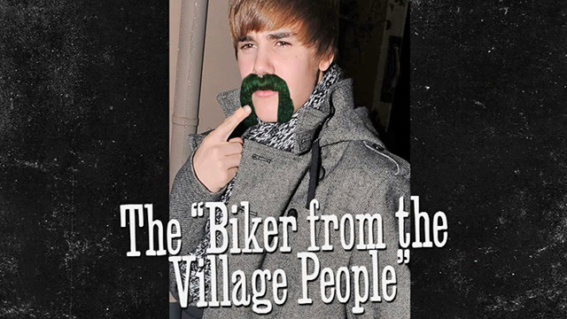 Justin Bieber recently drew a mustache on himself because, well,