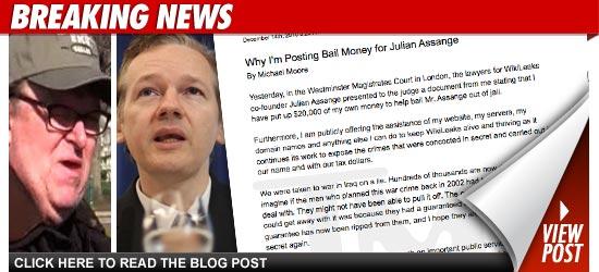 Michael Moore WikiLeaks Julian Assange