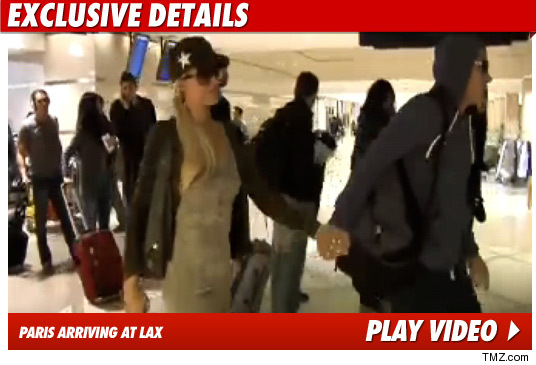 Paris Hilton Evacuated Airplane