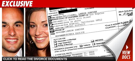 Landon Donovan Divorce