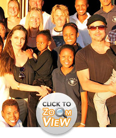 The Jolie-Pitts: Holidays in Namibia