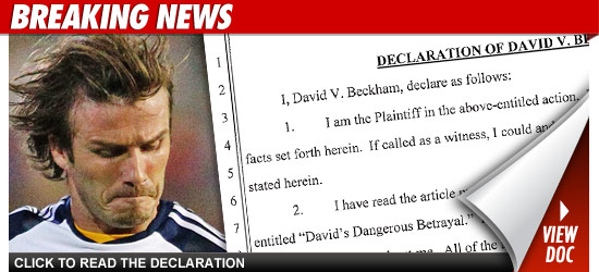 David Beckham Cheating