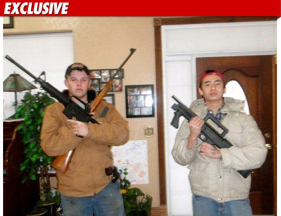 The kid double-fisting the firearms is 20-year-old John David Duggar -- the