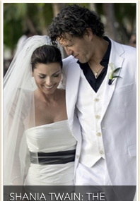 NEW FAB FOTOS! Shania Twain&#039;s Wedding Day!