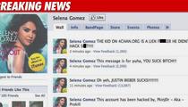 Selena Gomez -- Facebook Page Hacked