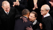 Ruth Bader Ginsburg to Obama -- No Gloves, No Love