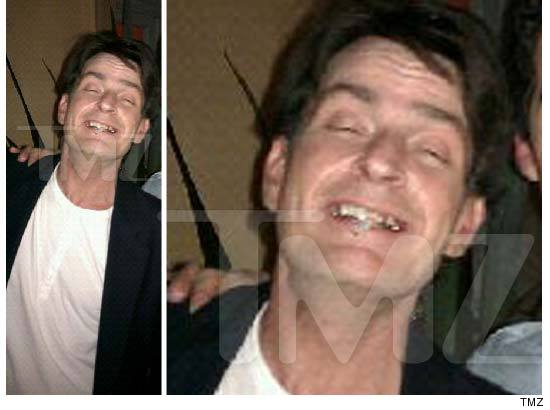 Charlie Sheen Party Photo