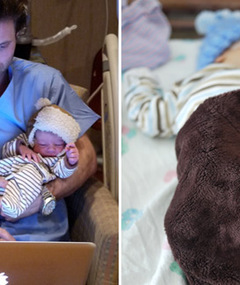 New Photos & Video! 'Bachelor' Jesse Csincsak's Newborn's First Tweet!