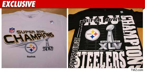 Pittsburgh Steelers Super Bowl championship merchandise